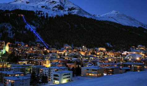 picture of davos switzerland at night