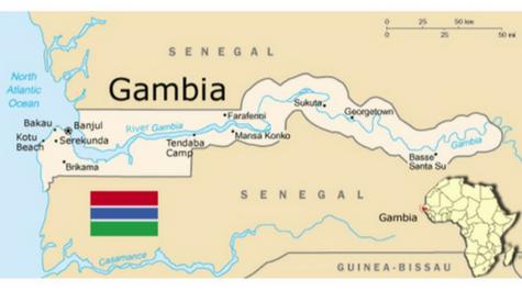 Banjul Gambia map