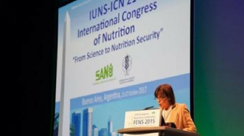 Speaker at the international congress of nutrition