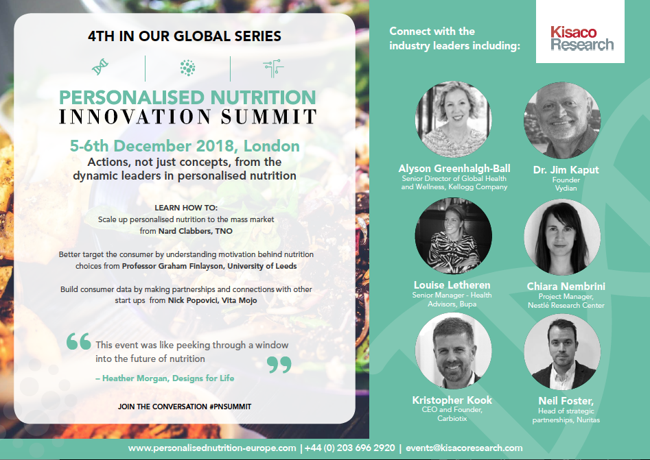 personalized nutrition innovation summit december 2018 london