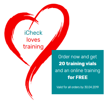 iCheck Loves Training: get your FREE vials and training now